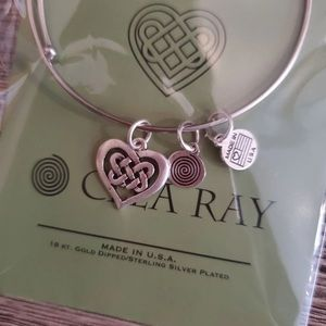 Celtic Heart Bangle Bracelet